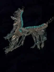 teal necklace only