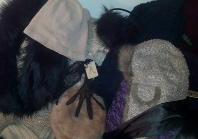 Fancy knit, faux fur and wool hats, gloves and scarves from Accessorize