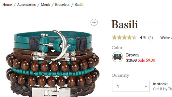 Stack of blue and wood-brown leather bracelets with silver anchor and embellishments.