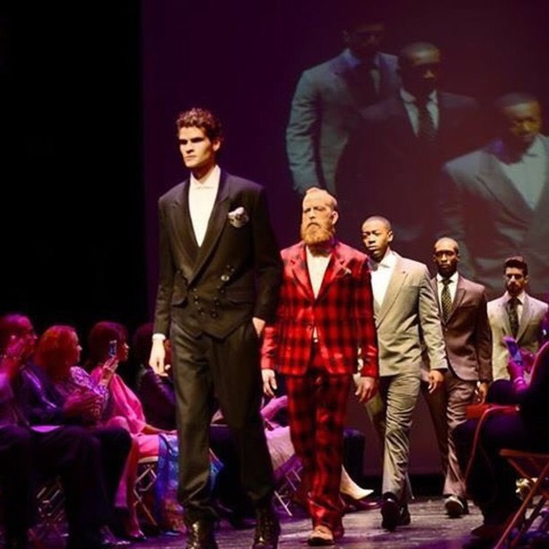 The models are wearing local menswear designer, Andrew Norwell during