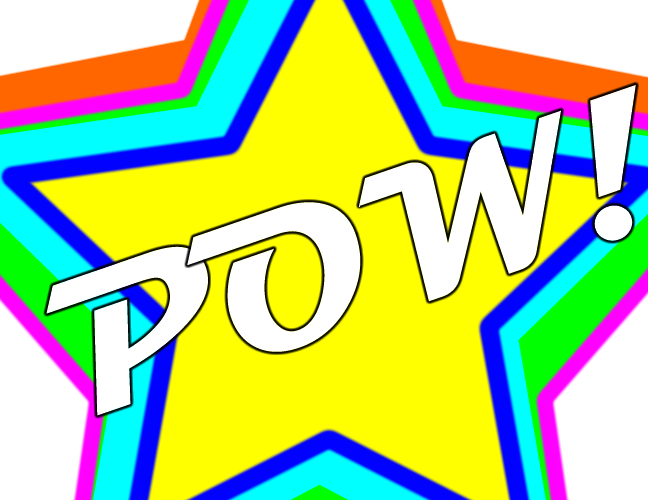 "Bright stars ignite the world ""POW!"""