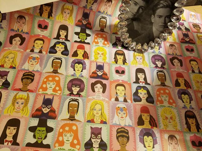Poster with heroines and villains including Princess Leia, Batgirl, Xena, Chun Li and more