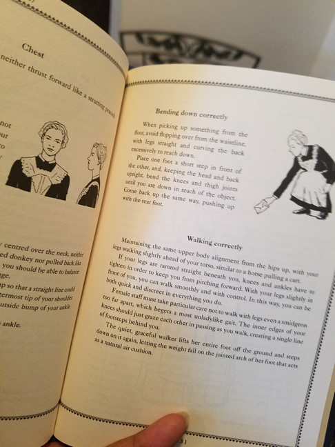 Reading about Anna's posture in the Downton Abbey handbook...