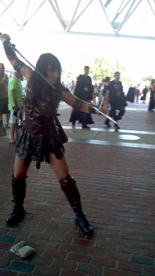 The wonderful Jessica Crouse in authentic Xena cosplay