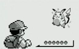 Ash catching a Pikachu in the first black and white Pokemon game!