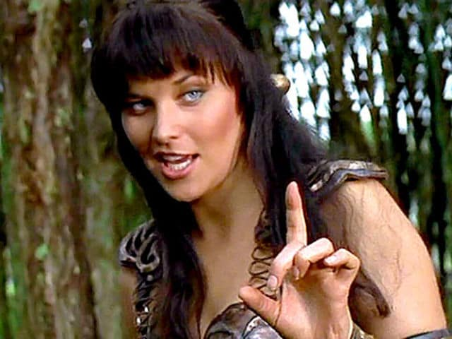 Xena, lifting finger to say